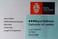 rhul card